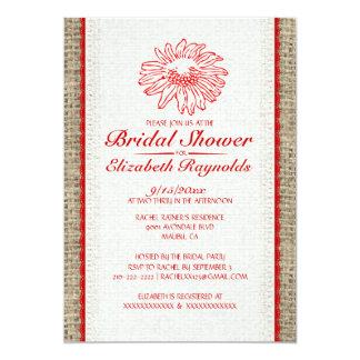 Chás de panela vermelhos & brancos do laço do convites personalizados