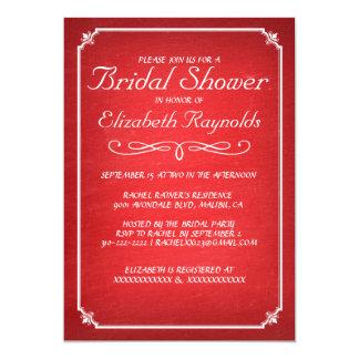 Chás de panela vermelhos & brancos do quadro convite personalizados