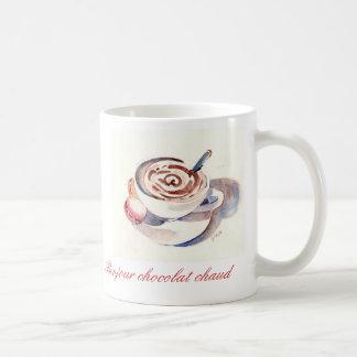 Chaud do chocolat de Bonjour Caneca De Café