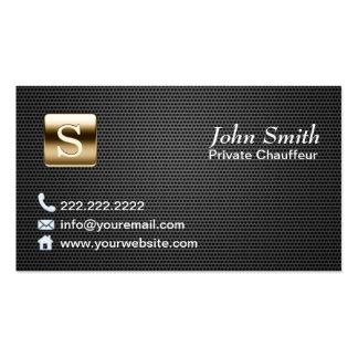 Chauffeur escuro do metal do logotipo profissional cartão de visita