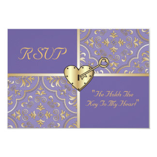 Chave a meu cartão do coração RSVP Convite
