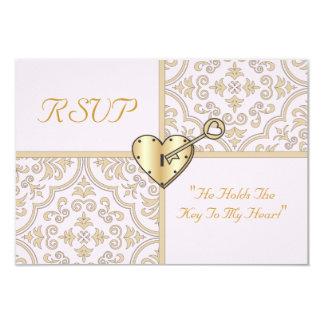 Chave a meu cartão do coração RSVP Convite 8.89 X 12.7cm