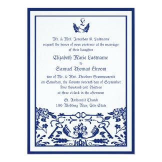 Chave a meu casamento do coração convite 13.97 x 19.05cm