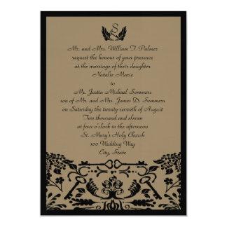 Chave a meu casamento do coração convite 12.7 x 17.78cm