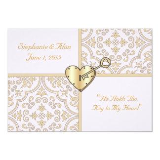 Chave a meu convite do casamento do coração