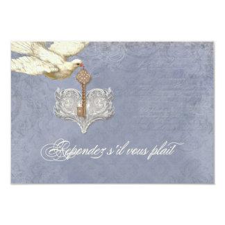 Chave a meu coração, cartão da resposta do convites personalizados