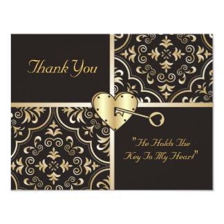 Chave a meus cartões de agradecimentos do coração convite 10.79 x 13.97cm