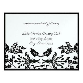 Chave a minha recepção de casamento do coração convite personalizado