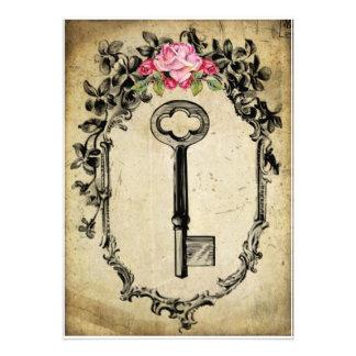 Chave antiga extremamente secreto convites personalizado
