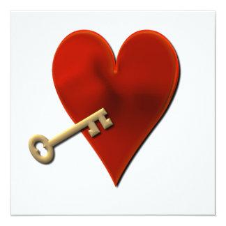 Chave ao convite do coração