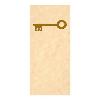Chave. Chave de Brown no efeito do pergaminho 10.16 X 22.86cm Panfleto