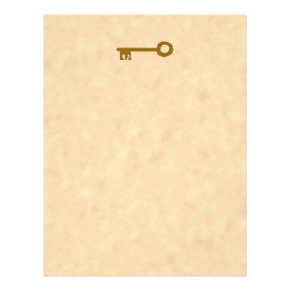 Chave Chave de Brown no efeito do pergaminho Panfletos