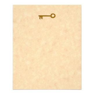 Chave Chave de Brown no efeito do pergaminho Panfleto