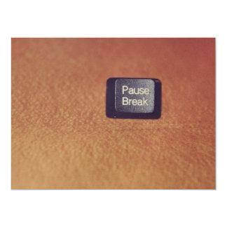 chave da Pausa-ruptura Convite