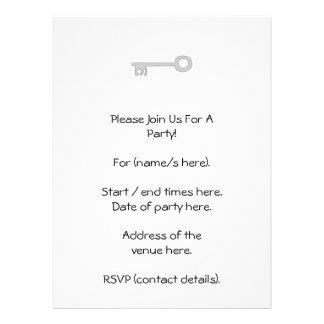 Chave das cinzas de prata no branco convites