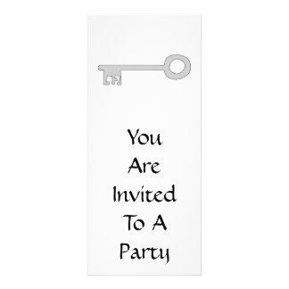 Chave das cinzas de prata no branco convites personalizado