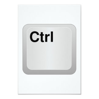 Chave de computador do CTRL Convites Personalizado