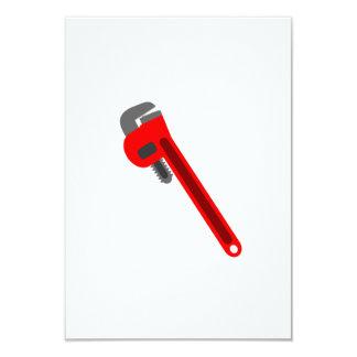 Chave do canalizador convite 8.89 x 12.7cm