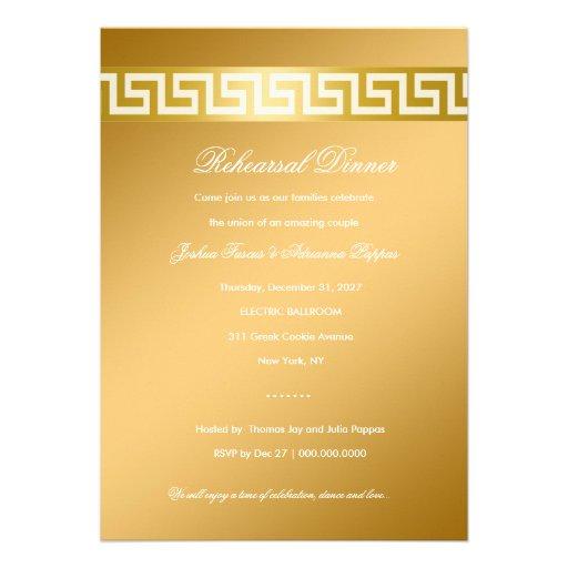 chave do grego 311-Golden Convites Personalizado