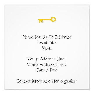 Chave do ouro no branco convites personalizado