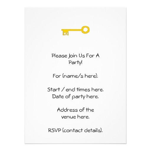 Chave do ouro no branco convite