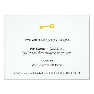 Chave do ouro no branco convite 10.79 x 13.97cm