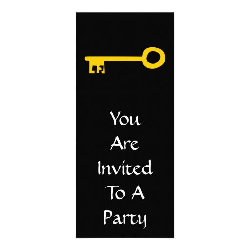 Chave do ouro no preto convite personalizados