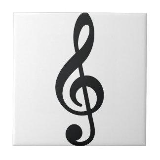 chave do triplo da nota da nota musical