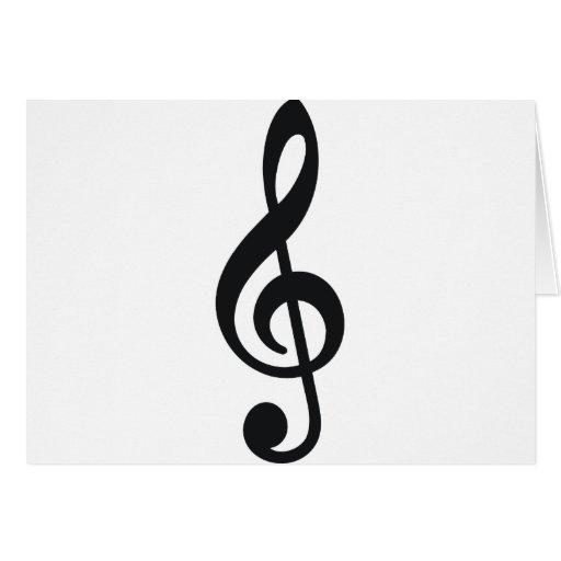 chave do triplo da nota da nota musical cartao