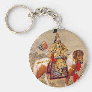 Chaveiro 乾隆帝 do imperador do Qianlong de China na armadura