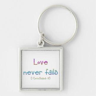 Chaveiro 1 Corinthians 13 - o amor nunca falha