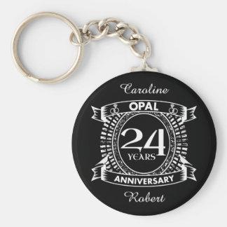 Chaveiro 24o opal do aniversário de casamento