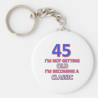 Chaveiro 45 designs do aniversário