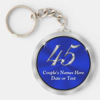 Chaveiro 45th favores personalizados do aniversário,