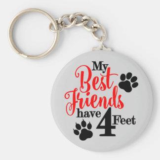 Chaveiro 4 pés de melhores amigos