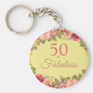 Chaveiro 50 e rosas cor-de-rosa fabulosos com toques do