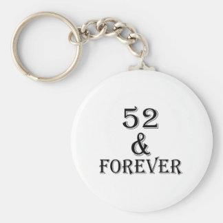 Chaveiro 52 e para sempre design do aniversário