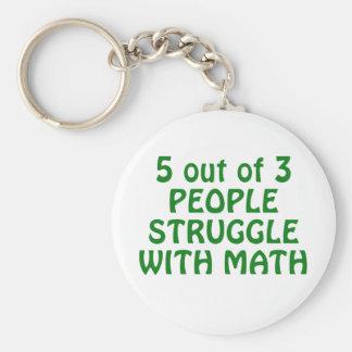 Chaveiro 5 de 3 pessoas do esforço com matemática