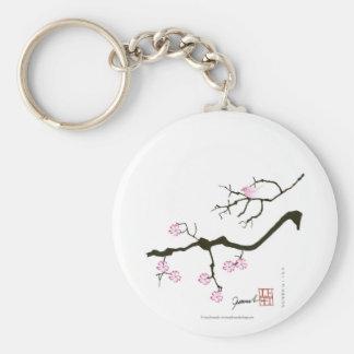 Chaveiro 7 flores com pássaro cor-de-rosa, fernandes tony