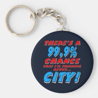 Chaveiro 99,9% CIDADE (branca)