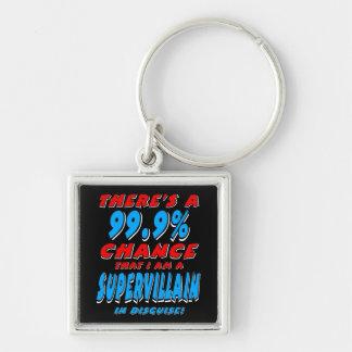 Chaveiro 99,9% Eu sou um BANDIDO SUPER (branco)