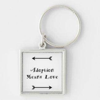 Chaveiro A adopção significa que o amor - adoptivo - adota