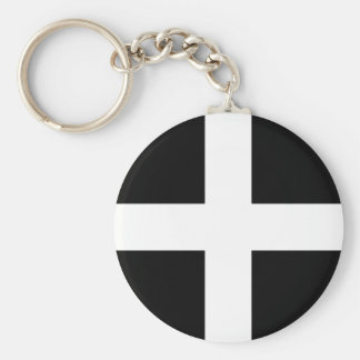 Chaveiro A bandeira de Piran Cornish do santo - bandeira de