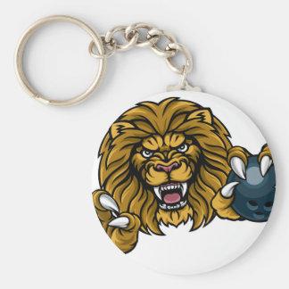 Chaveiro A bola de boliche do leão ostenta a mascote