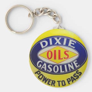 Chaveiro A bomba de gás Dixie do vintage lubrifica a era do