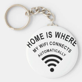 Chaveiro A casa é o lugar onde meu wifi conecta