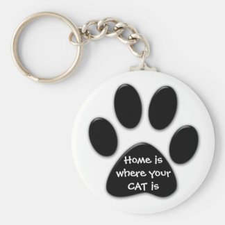 Chaveiro A casa é o lugar onde seu CAT é anel chave