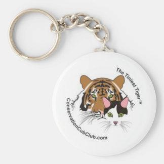Chaveiro A conservação a mais minúscula Cub do tigre bate o