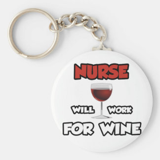 Chaveiro A enfermeira… trabalhará para o vinho