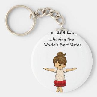 Chaveiro A felicidade… está tendo a melhor irmã. .pn do